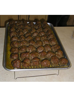 Swedish Meatballs fresh out of the oven