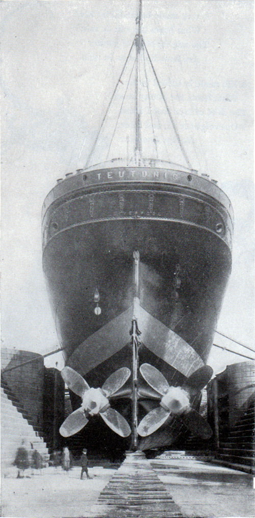 A Twin Screw Steamer in a Dry Dock.