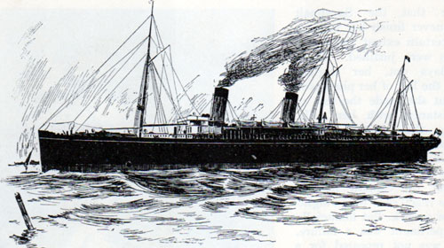 "The White Star Line S. S ""Teutonic."""
