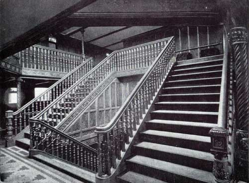 The Grand Staircase of the White Star Line S.S. Teutonic