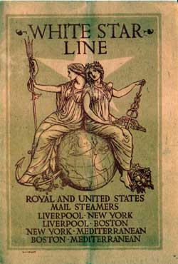 Passenger Manifest, White Star Line SS Cymric, 1906, Liverpool to Boston