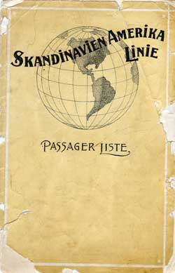 1912-02-08 Passenger Manifest for the SS United States