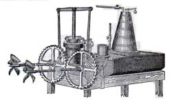 Machinery of First Propeller Built by Stevens