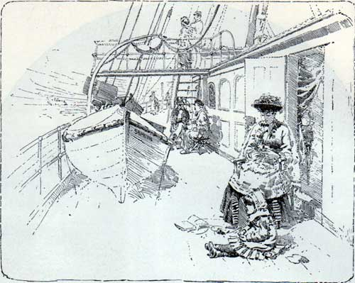 In Fair Weather, A Mother and Child Relax on Deck