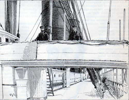 The Captain's Post on the Bridge of the S.S. Oregon