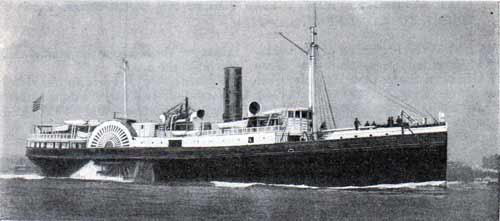 A Typical Ocean Going Side-wheeler, the Wyanoke, of the Old Dominion Line