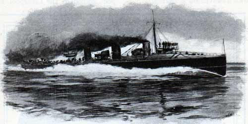 The British torpedo boat destroyer Viper