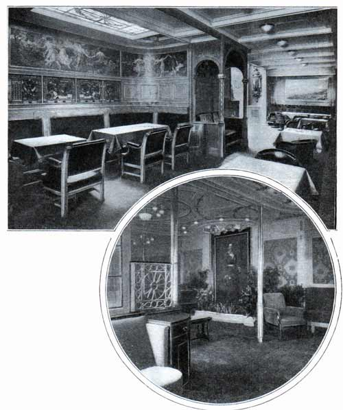 Smoking Room and Grand Saloon of the SS Deutschland