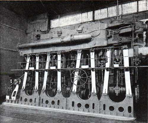 The engines of a modern Atlantic liner