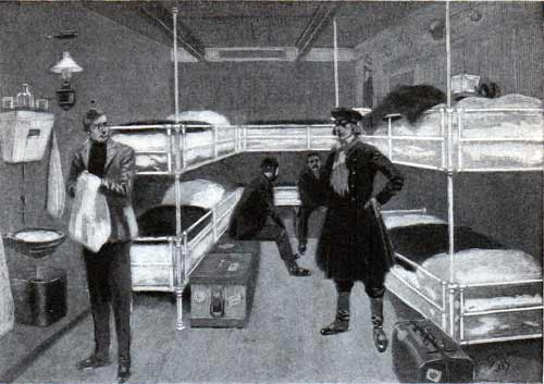 Six-Berth Room in Third Class - Modern Liner of 1901