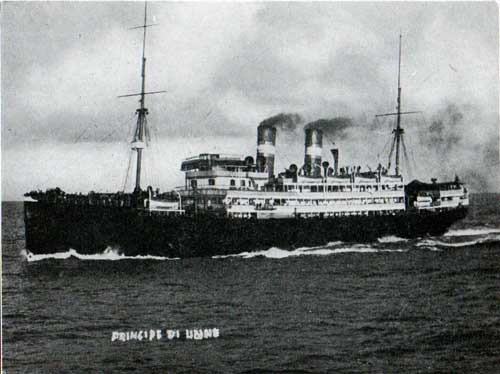 The Principe di Udine Steamship of the Lloyd Sabaudo Line