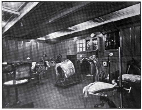 GYMNASIUM ON THE STEAMSHIP AMERIKA