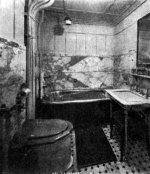 Photo02: Bathroom Of Imperial Suite On The Steamship Amerika