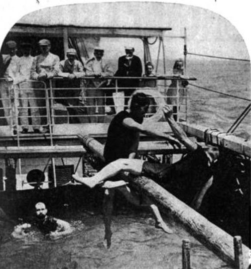 Photo03: Swimming Tank On Pacific Liner