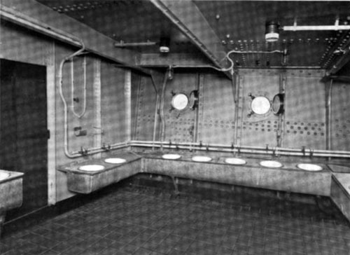 Photo10 - View Of Washroom For Steerage Passengers - North German Lloyd Steamship