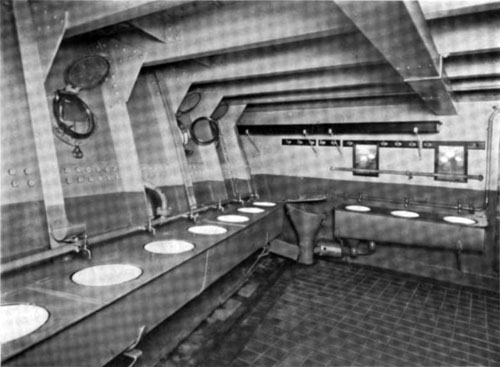 Photo11 - View Of Washroom For Steerage Passengers - North German Lloyd Steamship