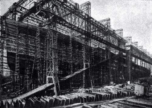 Photo18: The New White Star Line Britannic Under Construction