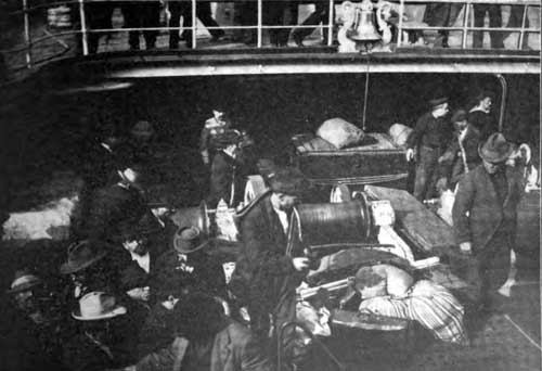 Photo 03: Steerage Passengers Going Aboard A Transatlantic Steamship In New York