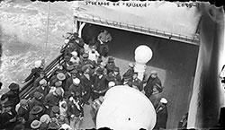 Steerage Passengers Gathering near the Fantail.