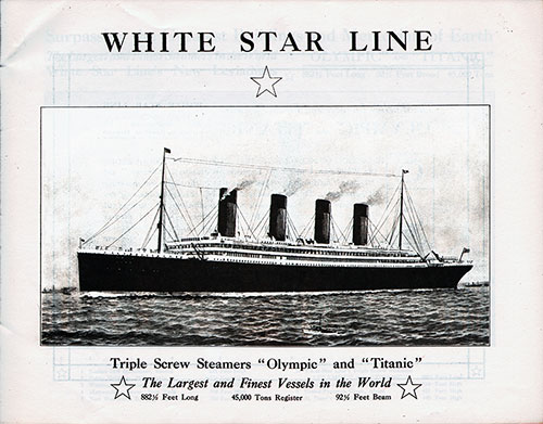 White Star Line Steamships Olympic and Titanic