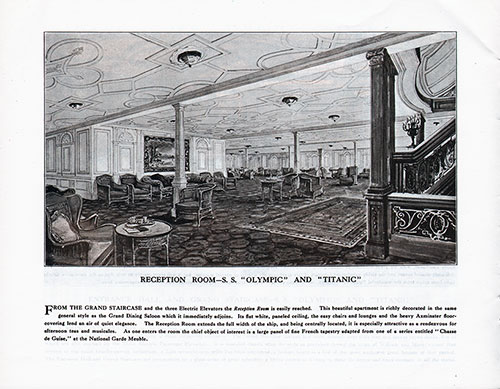 Reception Room-S. S. Olympic and Titanic