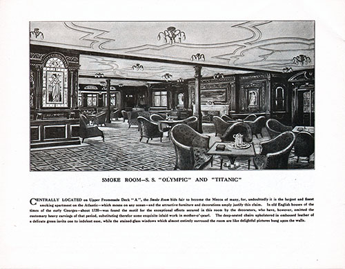 Smoking Room-S. S. Olympic and Titanic