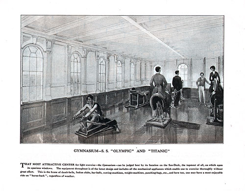 Gymnasium—S. S. Olympic and Titanic