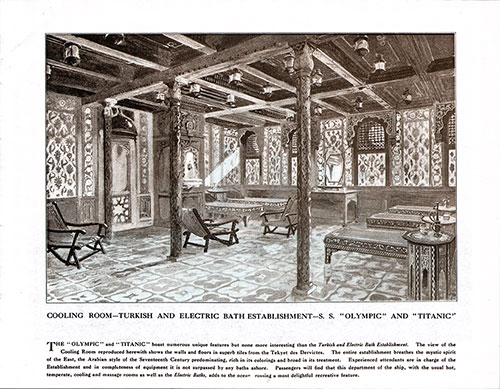 Cooling Room-Turkish and Electric Bath Establishment-S. S. Olympic and Titanic