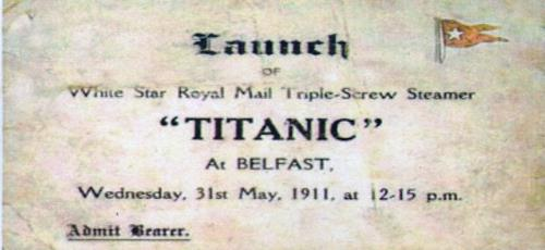 Launch of Titanic - Bearer Ticket