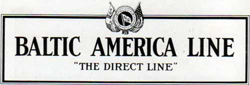 Baltic American Line - The Direct Steamship Line