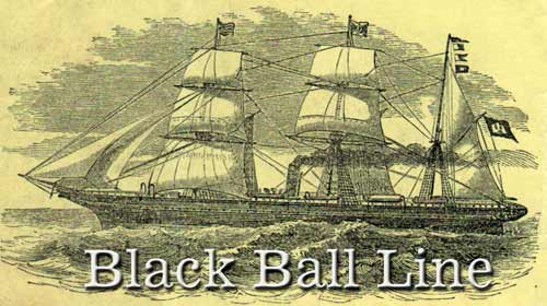Black Ball Line - Illustrated Packet Ship