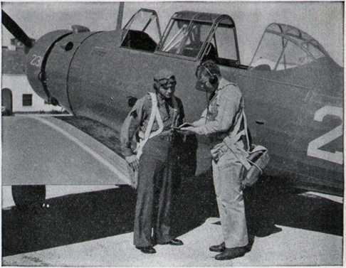 An Air Corps Student and His Instructor