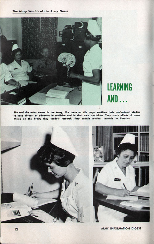 The Many Worlds of an Army Nurse - Learning