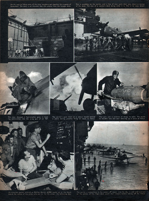 Scenes on a World War II Aircraft Carrier