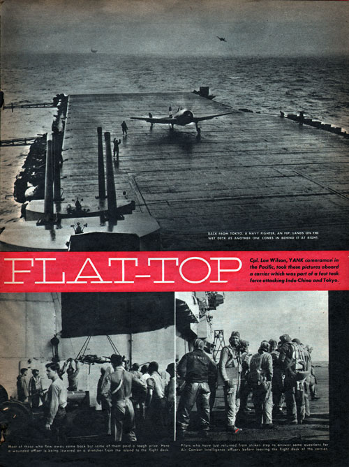 More Scenes on a World War II Aircraft Carrier