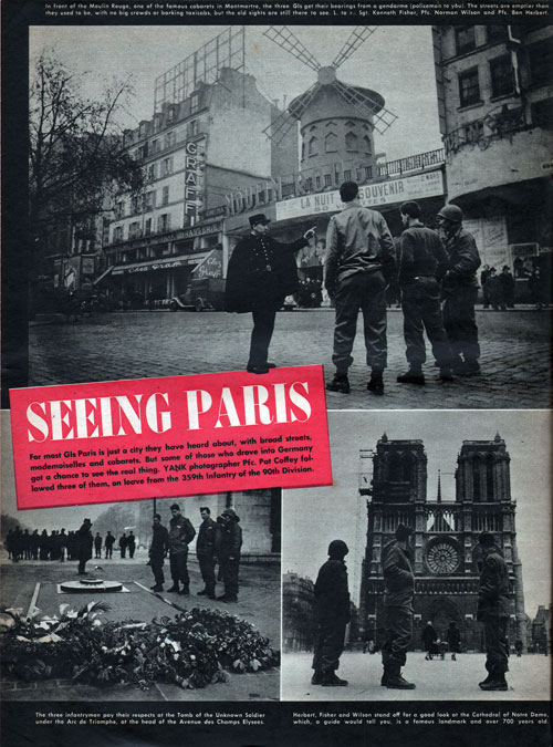 Collage of Photos 1 - Seeing Paris - GI Tourists in April 1945
