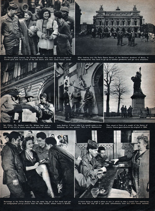 Collage of Photos 2 - Seeing Paris - GI Tourists in April 1945