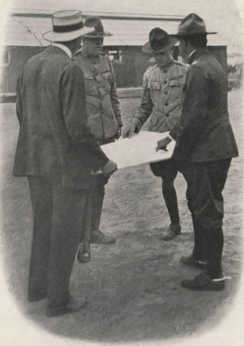 Major General Kennedy Looking at a Map
