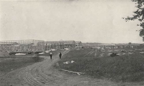 Skeletin Buildings During the Construction of Camp Dix