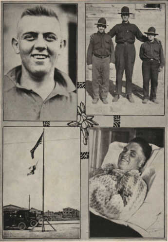 Photo30: George Whitmer, Bernard Anderson, One of the hospital inmates and Temporary Base Hospital