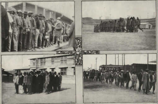 Photo09: Negro Contingents arriving from Alabama and glimpses of their first drills