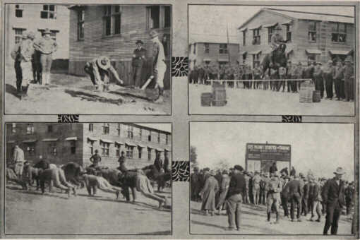 Photo12: Four Scenes of Soldiers Exercising At Camp Dodge