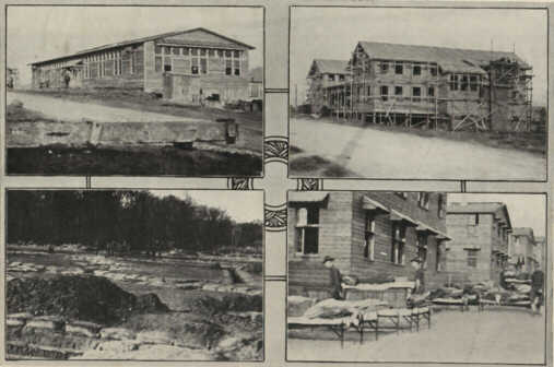 Photo28: Library Building, Y.W.C.A. building, House-cleaning day and The trenches