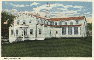 Postcard 03: Red Cross Building at Camp Dodge