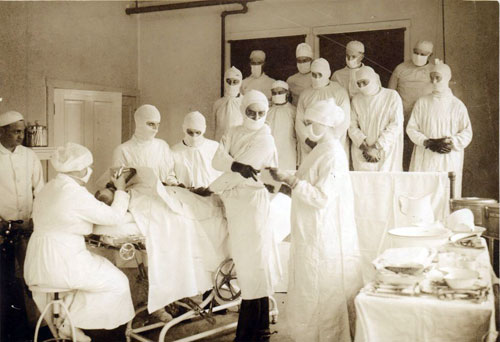 Photograph of the Camp Pike Base Hospital Surgical Ward, ca 1917