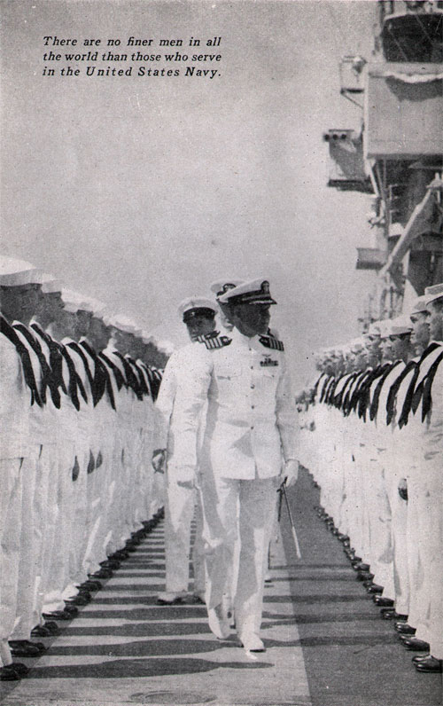 Inpsection Of The Sailors On Deck