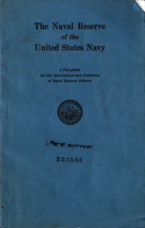 The Naval Reserve of the United States Navy