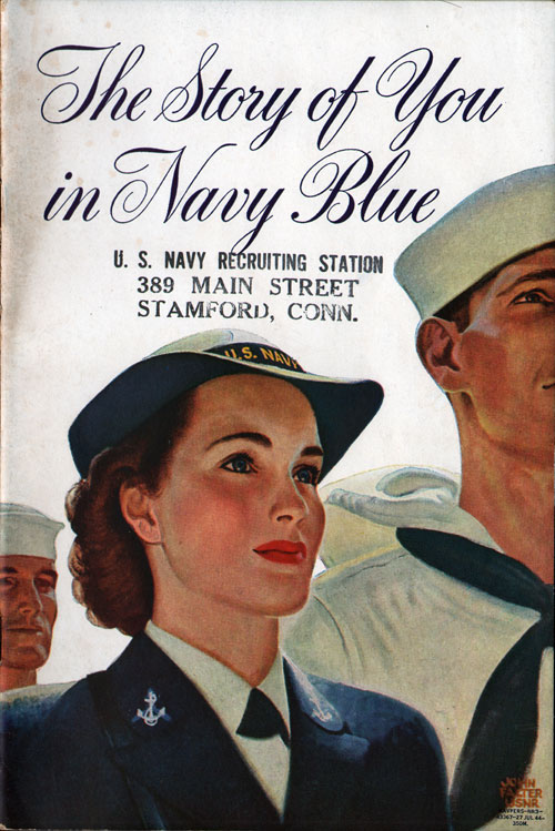 The Story Of You In Navy Blue - WAVES Recruitment Brochure