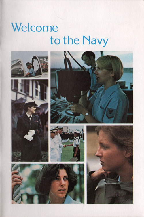 Front Cover - Welcome to the Navy - 1978 Brochure