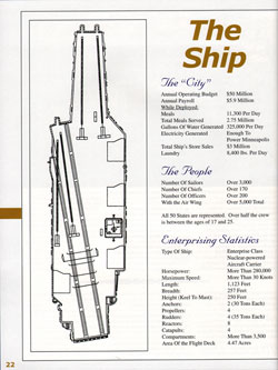 The Ships' Statistics for the USS Enterprise